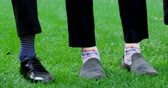 groomsmen : Close-up of groom and groomsmen showing there shoes 4K 4k