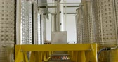 fabrika : Close-up of distillation tanks in factory 4k Stok Video