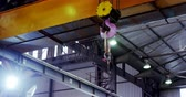 yokluk : Modern hoist machine hanging in workshop 4k