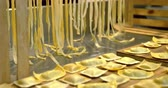 deski : Ravioli pastas arranged on chopping board in bakery shop 4k