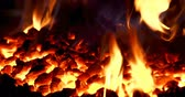 lakatosmunka : Close-up of fireplace in workshop 4k