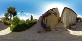 restauração : 360VR video of street and houses of Mishkenot Shaananim neighborhood in Jerusalem, Israel. It was the first Jewish neighborhood built outside the walls of the Old City of Jerusalem in 1860.