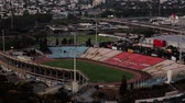 Aerial view of cityscape of Ramat Gan Stadium.