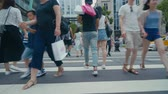 trafik : Taipei, Taiwan - 20 April 2018 - Taipei street people walking