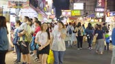 ışıklar : TAICHUNG -TAIWAN 15 SEPTEMBER 2017: Taiwans unique culture, night bazaar attracts many young people to this meal and chat, which has become one of Taiwans culture, and 15 September 2017 in Taichung