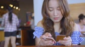 banking house : Beautiful Woman Online Banking Using Smartphone Shopping Online With Credit Card