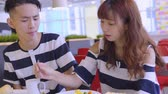 diyalog : Young Couple Enjoying Breakfast At Coffee Shop
