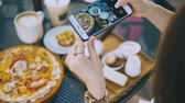 dish photo : Closeup Hand Holding Phone Shooting Food Photograph