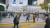 Tokyo Japan 02 April 2019:business People At Shibuya Crossing. 4K Resolution Stock Footage