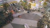 над : Busy Shibuya Pedestrian Crossing From Above