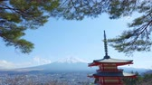 пагода : View Of Mount Fuji From Chureito Pagoda