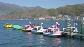 motorized sport : Boat Sailing On Lake Kawaguchi Japan