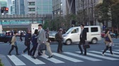 multidão : Tokyo Japan 04 April 2019: office Workers On The Way To Work