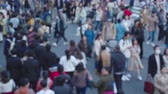 desfocado : Blur View Of People Walking In The Street