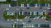 shopping street : Aerial View Of The Parking Lot In Taiwan