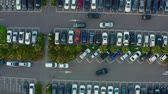 асфальт : Aerial View Of The Parking Lot In Taiwan