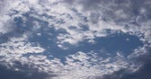 formed : White Clouds Are Formed In The Blue Sky Stock Footage