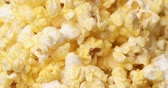 kernels : Close-Up Of Popcorn Pours Down Stock Footage