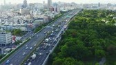 havadan görünüş : Kaohsiung, Taiwan - May, 26 , 2019 aerial view of kaohsiung Highway. Stok Video