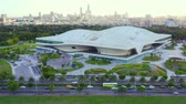 classic architecture : Kaohsiung, Taiwan -- June 6, 2019: Aerial View Of kaohsiung opera house. Stock Footage