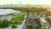 ocupado : Kaohsiung, Taiwan -- June 6, 2019: Aerial View Of kaohsiung opera house. Archivo de Video