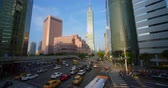este : Taipei, Taiwan - March 1, 2019 : Street View Of Taipei With Metro Train Appro