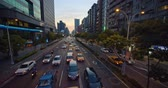 Taipei, Taiwan - March 1, 2019 : Street View Of Taipei With Metro Train Appro