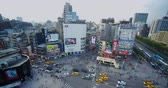 モール : Taipei, Taiwan - 26 April 2019 :aerial View Of Busy Street In Ximending , Tai