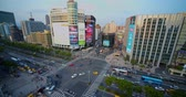 cross the road : Taipei, Taiwan - 26 April 2019 :aerial View Of Busy Street In Ximending , Tai