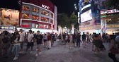 kruis : Taipei, Taiwan - 26 April 2019 :people Walking And Shopping At Ximending Stre Stockvideo