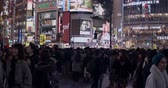 배낭 여행 : Tokyo Japan 24 December 2019: crowded Street Of The District