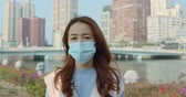 咳 : Woman Feeling Sick And Wearing Face Mask 動画素材