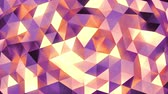 origami background : Peach - purple abstract background of moving shinning triangles (low poly) seamless loop