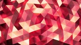 facet : Vanilla - red abstract background of moving shinning triangles - low poly, seamless loop