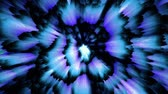 фантастический : Cold blue luminous moving matter, dynamic abstract background
