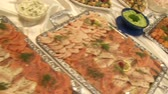 appetiser : video footage of a nice buffet Stock Footage