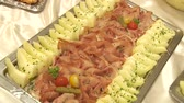 potatoe dishes : video footage of a nice buffet Stock Footage