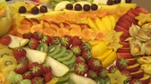 lunchroom : Fruits in a Restaurant Stock Footage