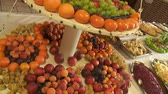appetiser : Fruits in a Restaurant Stock Footage