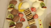 afters : dessert video footage Stock Footage