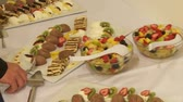 dines : dessert video footage Stock Footage