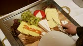 different cheeses : cheeseboard