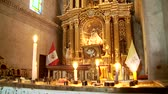 southamerica : Church in the abbey Santa Catalina in Arquipa, Peru Stock Footage