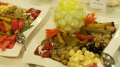 dines : Buffet Stock Footage
