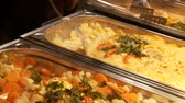 dines : Nice Buffet Stock Footage
