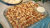 appetiser : Nice Buffet Stock Footage