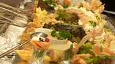 potatoe dishes : Fish Buffet in restaurant