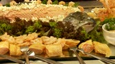 potatoe dishes : Nice buffet with fish