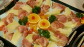 appetiser : Buffet in restaurant Stock Footage