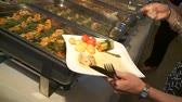 dines : video footage of a nice buffet in restaurant